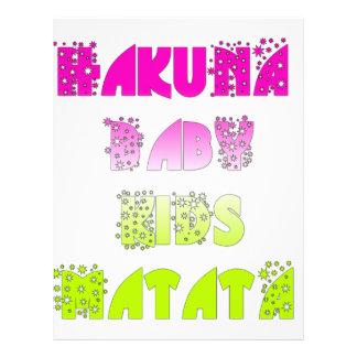 Kids Hakuna Matata Gifts Letterhead