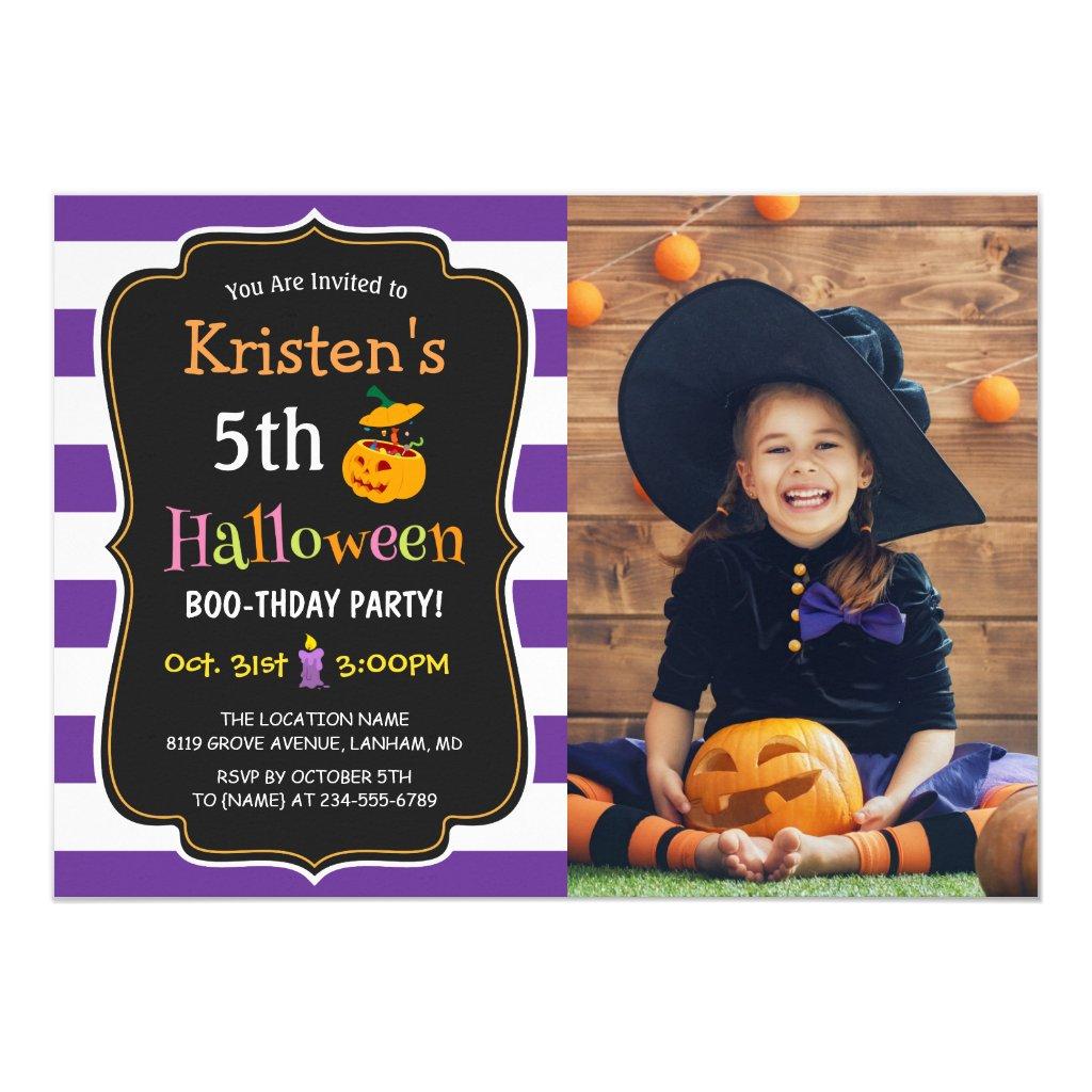 Kids Halloween Birthday Costume Party Photo