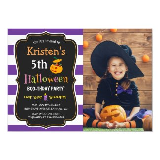 Kids Halloween Birthday Costume Party Photo