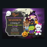 "Kids Halloween Birthday Invitation<br><div class=""desc"">Kids Halloween Birthday Invitation / Halloween Costume Party Invitation / Halloween Party Invites All designs are © Happy Panda Print</div>"