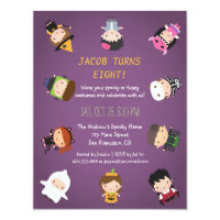 Costume party invitations announcements zazzle kids halloween costume birthday party invitations filmwisefo