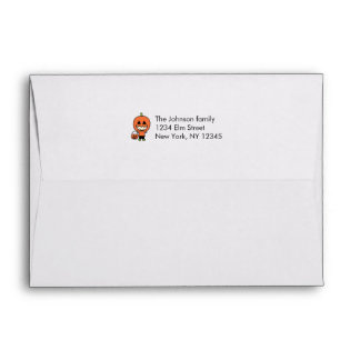 Kids Halloween Costume Matching Pattern Lined Envelope