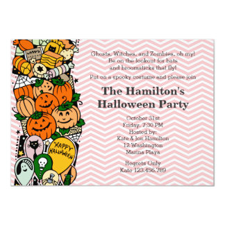Kid's Halloween Costume Party Personalized Invites