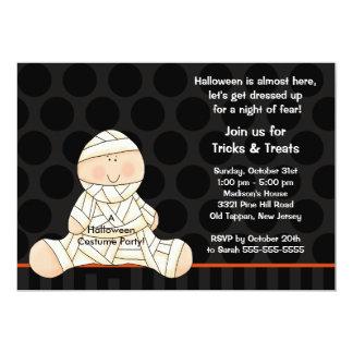 Kids Halloween Costume Party Invitation Cute Mummy