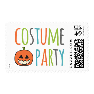 Kids Halloween Costume Party Postage Stamp