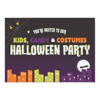 Kids Halloween Invitation (personalize)