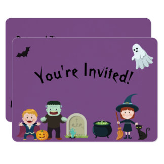 "Kids Halloween Party 5"" x 7"" Invitation"