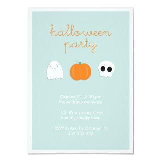 Kids Halloween Party Cute Skull Ghost Pumpkin Card