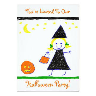 "Kids Halloween Party! 5"" X 7"" Invitation Card"