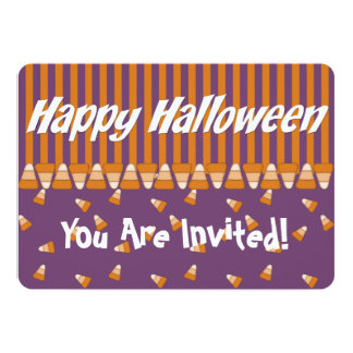 Kid's Halloween Party Invitation Candy Corn