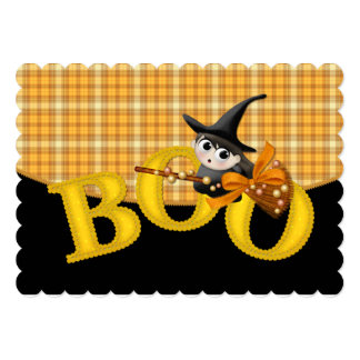 Kid's Halloween Party Invitation Little Boo Witch