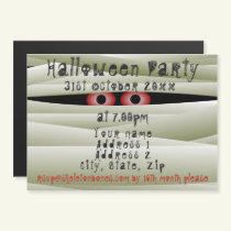 Kids Halloween Party Invitation Magnetic Card
