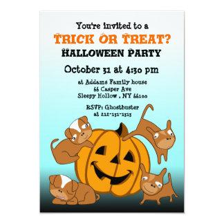 Kids Halloween Party Invitation Puppy