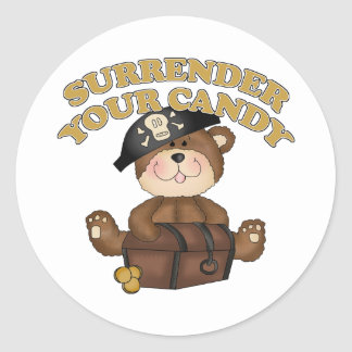Kids Halloween Pirate Classic Round Sticker