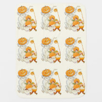 Kids Halloween Pumpkin Costume Party Baby Blankets at Zazzle