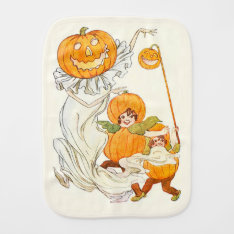 Kids Halloween Pumpkin Costume Party Baby Burp Cloth at Zazzle