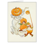 Kids Halloween Pumpkin Costume Party Card at Zazzle