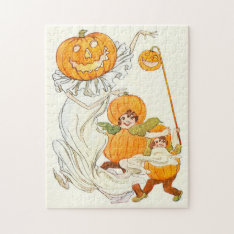 Kids Halloween Pumpkin Costume Party Jigsaw Puzzle at Zazzle