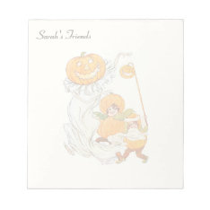 Kids Halloween Pumpkin Costume Party Notepad at Zazzle