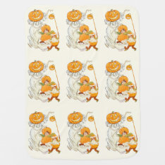 Kids Halloween Pumpkin Costume Party Receiving Blanket at Zazzle
