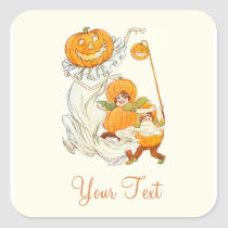 Kids Halloween Pumpkin Costume Party Stickers at Zazzle