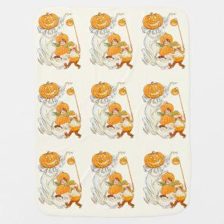 Kids Halloween Pumpkin Costume Party Stroller Blanket