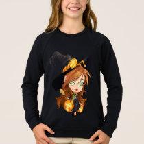 Kids Halloween Witch Sweatshirt