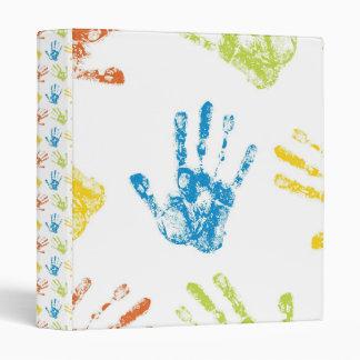 Kids Handprints 3 Ring Binder