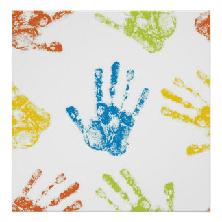 Kids Handprints Poster
