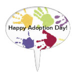 Kids Hands Happy Adoption Day Cake Topper
