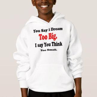 Kids' Hanes ComfortBlend Hoodie, White-dream big Hoodie