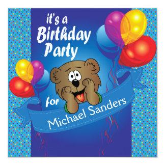 Kid's Happy Birthday Polka Dot Bear Card