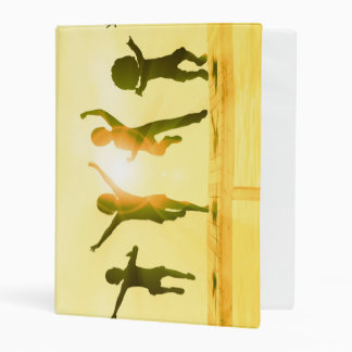 Kids Having Fun and Playing by the Beach Mini Binder
