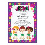 "Kids Hawaiian Luau 5"" X 7"" Invitation Card"