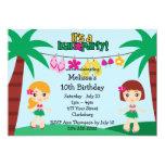 Kids Hawaiian Luau Custom Invites