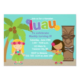 Kids Hawaiian Luau Party Card