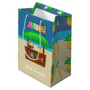Kids Hawaiian Luau Party Guest Favor Medium Gift Bag