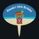 """Kids Hawaiian Luau Party Personalized Cake Topper<br><div class=""""desc"""">See the full range of matching products in the collection below. Graphics by Alefclipart at Mygrafico.com</div>"""