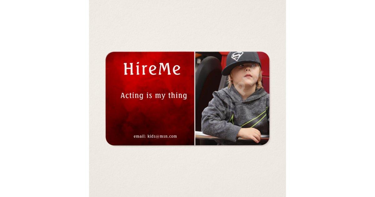 Kids Headshot Business Cards - Actor Models | Zazzle.com