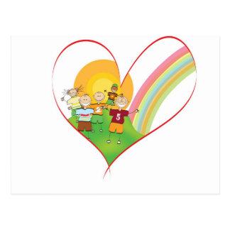 Kids Heart Postcard