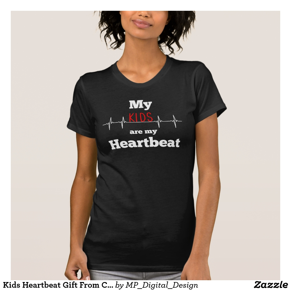 Kids Heartbeat Gift From Children Heartbeat T-Shirt - Best Selling Long-Sleeve Street Fashion Shirt Designs