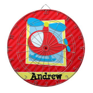 Kid's Helicopter; Scarlet Red Stripes Dartboard