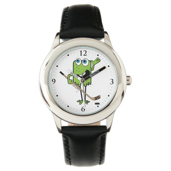 Kids Hockey Monster Green Watch