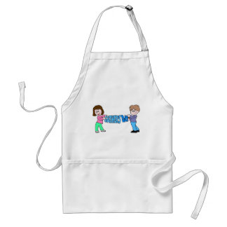 Kids holding Fathers Day Banner Adult Apron
