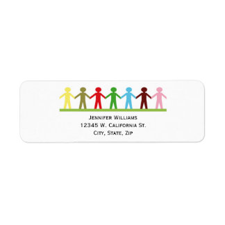 Kids Holding Hands Colorful Children United Label