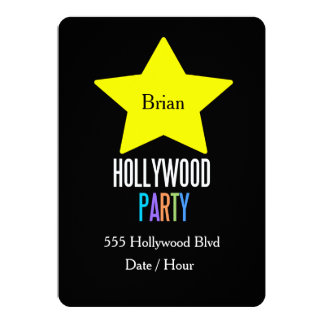 KIDS Hollywood star party invitation (customize)