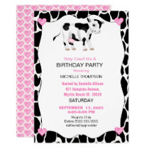 Kids Holy Cow Birthday Party Invitation