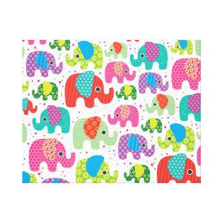 Kids home deco elephant india canvas canvas print
