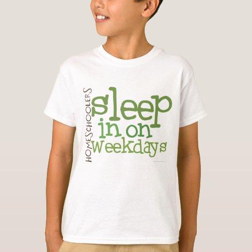 Kids' Homeschool t-shirt: Sleep in T-Shirt