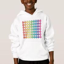 Kids Hooded Sweatshirt - Cute Rainbow Owl Pattern